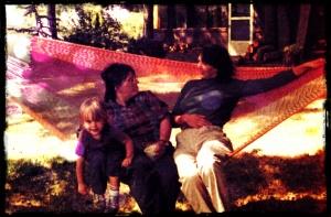 Allison, Barb and Karla on Lopez Island, 1984